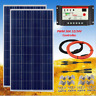 200W Solar Panel Kit 2*100W SolarPanel Battery Charger Controller Kit+Controller