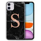 PERSONALIZED ROSE GOLD ENDLESS MARBLE PHONE CASE FOR APPLE IPHONE GEL COVER