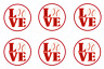 Baseball Love Sports Edible Cupcake Toppers Decoration