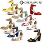 DREAM PAIRS New Fashion Women's HHER Buckle  Low Heel Platform Pump Sandals
