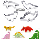 4Pcs Set Decorating Dinosaur/Animal Stainless Steel Cookie Cutter Party Mold