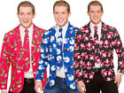 Christmas Suit Jacket + Tie Matching Novelty Adults Xmas Fancy Dress M-XL