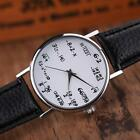 Fashion Women Mens Math Operation Leather Belt Stainless Steel Wrist Watches image