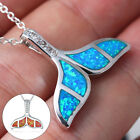 Crystal Opal Mermaid Whale Fish Tail Pendant Necklace Charm Women Jewelry Gifts!