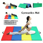 10'x4'x2'' Gymnastics Mat Thick Folding Panel Gym Fitness Exercise Yoga Mat US image