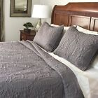 Fashionable Solid 3-piece Quilt Set image