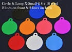 Aluminium Pet Tags, With FREE Personalised Engraving, Dog, Cat, Pet, Collar Tag!