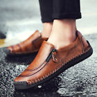 Men's Driving Shoes Loafers  Leather Moccasins Slip On Casual Leisure Breathable