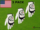 Cabretta Leather Golf Gloves 3 Pack Mens Left Right Hand Premium All Weather
