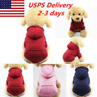 Puppy Warm Hoodie w/ Pocket Sweater Costume Autumn Winter Dog Cat Pet Apparel US