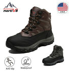 NORTIV 8 Mens Waterproof Lace Up Snow Boots Outdoor Winter Warm Hiking Boots US