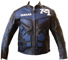 YAMAHA R1 Motorbike Leather Jacket MOTOGP Motorcycle Leather Jacket CE Armour