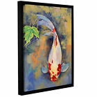 ArtWall Michael Creese's Koi with Japanese Maple Leaf, Gallery Wrapped