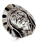 925 Silver Mother of Pearl Onyx American Indian Ring