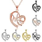 Duovin Heart Shaped Crystal Pendant Necklace Jewelry Mother's Day Gift For Mom