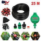 25m Auto/Manual Watering Irrigation System Sprinkler Drip Spraying Garden Hose