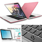 """Clear Matte Mac Pro 13 Plastic Case Laptop Shell Hard Cover for Macbook Air 11"""""""