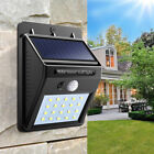 LED Solar Powered PIR Motion Sensor Wall Security Light Garden Yard Lamp Outdoor