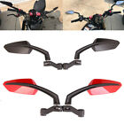 Motorcycle Angled Steady Rearview Mirrors 8/10mm For CB500F GSX-750 Lightning GS $17.5 USD on eBay