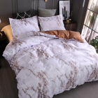 Simple Marble Bed Duvet Cover Set Bedding Set Twin Queen King Size
