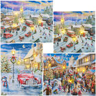 Christmas Light Up LED Wall Canvas Xmas Scene Decoration Decor Wall Art Picture