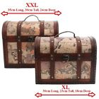 Treasure Map Chest ~ Trinket Trunks ~ Shabby Chic Storage Boxes ~ Vintage Style