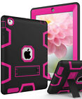 Kids Shockproof Military Heavy Duty Rubber Armor With Stand Case For Apple iPad