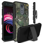 For LG Phoenix 4/LG Rebel 4 LTE Case Shockproof Belt Clip Kickstand Phone Cover