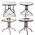 Garden Patio Furniture Glass Dining Table Side Tables With/without Parasol Hole