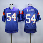 Thad Castle #54 Alex Moran #7 Blue Mountain State Goats Movie Football Jersey