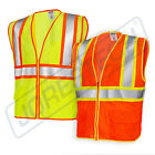 Внешний вид - Class 2 Reflective Jorestech Safety Vest with Pockets, Orange/Lime, Lime/Orange