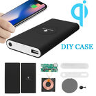 10000mAh QI Power Bank DIY Case Kit Only Wireless Charging Charger USB Type-C