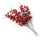10xpop Christmas Red Berry Branch Pine Cones Artificial Flower Accessories Decor