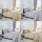 Serene Jasmine Floral Weave Cotton Rich Duvet Cover Set