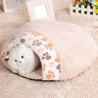 Soft Warm Dog Cat Kitten Cave Pet Bed House Puppy Sleeping Mat Pad Igloo Nest US