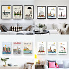 Nordic Modern City Landscape Poster Pictures Home Decor Canvas No Frame Painting