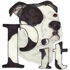 PIT BULL DOG TOWELS BATHROOM HAND WASH CLOTHS KITCHEN EMBROIDERED BY LAURA