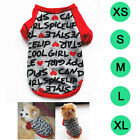 Dog Clothes Cotton Soft Letters Printed Gray Puppy Sweatshirt Pets Apparel