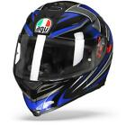AGV K 5 S Hurricane 20 Black Blue Motorcycle Helmet Free Shipping New
