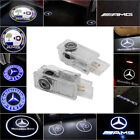 For Mercedes Benz Cree Led Projector Car Door Lights Shadow Puddle Courtesy Logo