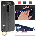 For Samsung GalaxyS9 Plus/Note9 Soft Holder Litchi Grain Wrist Strap Case Cover