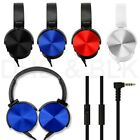 Over Ear Headphone Earphone Headset with Mic Wired Noise Cancellation