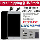 For iPhone 6S 6 LCD Digitizer Touch Screen Replacement With Home Button & Camera