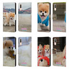 OFFICIAL BOO-THE WORLD'S CUTEST DOG PLAYFUL LEATHER BOOK CASE FOR HUAWEI PHONES