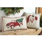Внешний вид - Mud Pie H9 Christmas Tree Farm Vintage Holiday Tapestry Pillow - 41600009 Choose