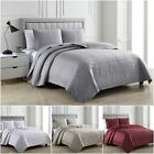 Chezmoi Collection 3-Piece Matte Satin Geometric Quilted Bedspread Set image