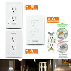2 Pack Upgraded Wall Outlet Plate With LED Night Lights wall outlet with lights