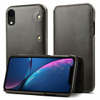Handmade Vintage Genuine Leather Wallet Flip Case Cover For iPhone Xs Max XR 7 8