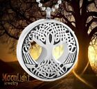 New Tree of Life Urn Silver Cremation Pendant Ash Holder Memorial Necklace