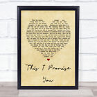 This I Promise You Vintage Heart Song Lyric Quote Print